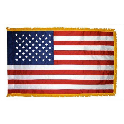 Fringed Indoor American Flags