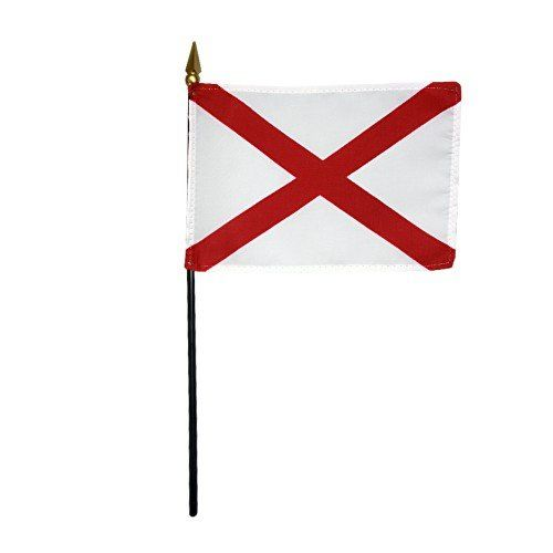 Mounted Alabama State Flags