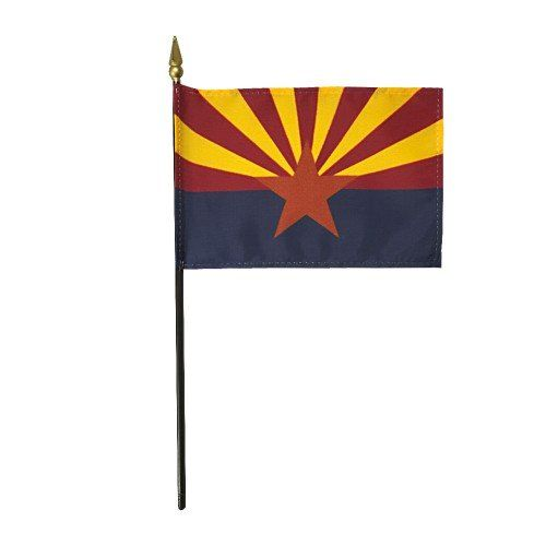 Mounted Arizona State Flags