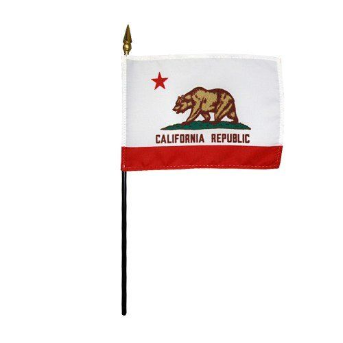 Mounted California State Flags