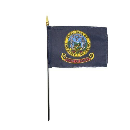 Mounted Idaho State Flags