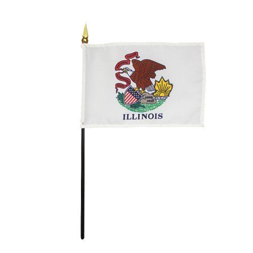 Mounted Illinois State Flags