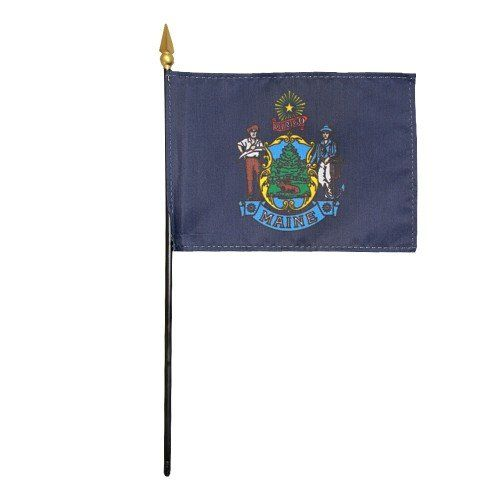 Mounted Maine State Flags