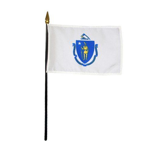 Mounted Massachusetts State Flags