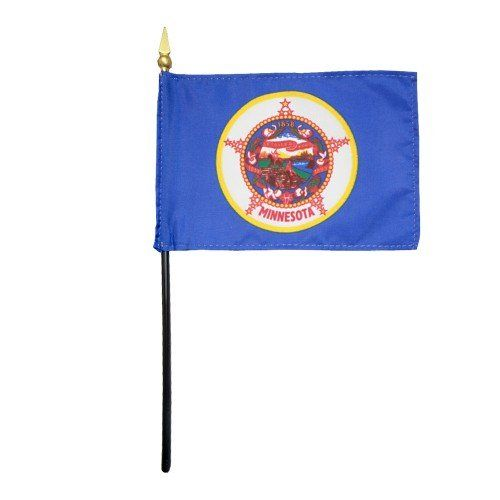 Mounted Minnesota State Flags