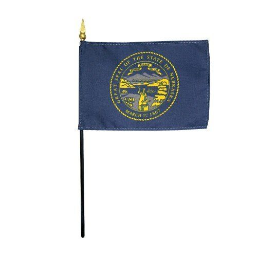 Mounted Nebraska State Flags