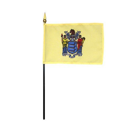 Mounted New Jersey State Flags