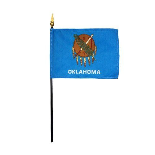 Mounted Oklahoma State Flags