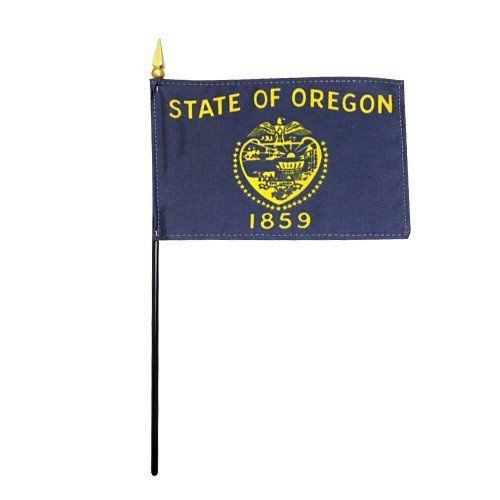 Mounted Oregon State Flags
