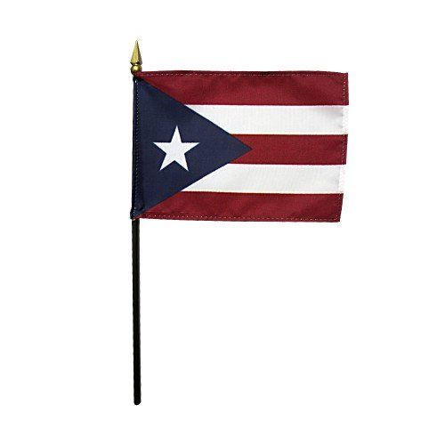 Mounted Puerto Rico State Flags