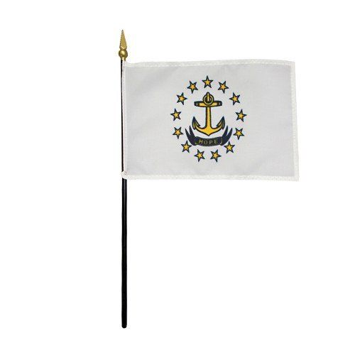 Mounted Rhode Island State Flags