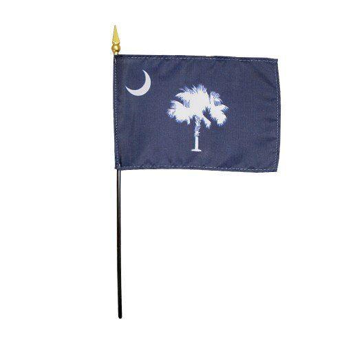 Mounted South Carolina State Flags