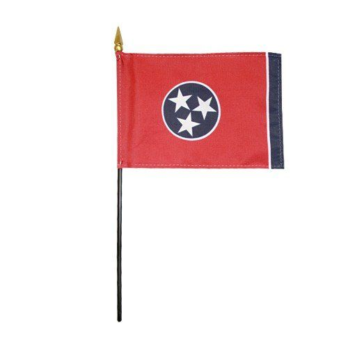 Mounted Tennessee State Flags