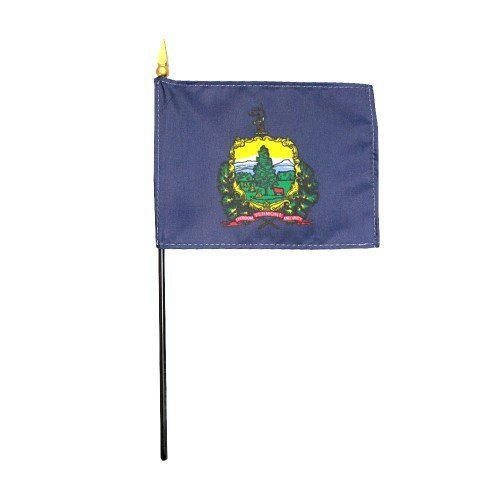 Mounted Vermont State Flags