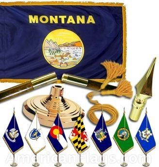 Indoor and Parade Montana State Flags