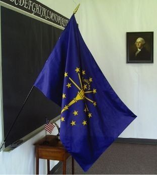 Indiana State Classroom Flags