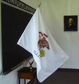 Illinois State Classroom Flags