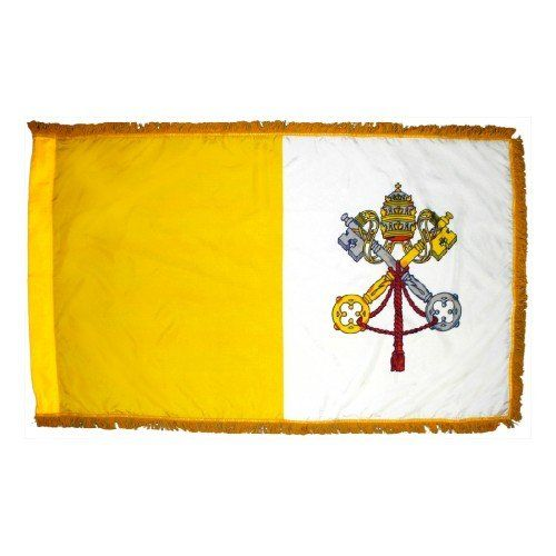 Indoor Fringed Papal Flags