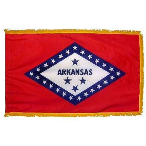 Indoor and Parade Arkansas State Flags