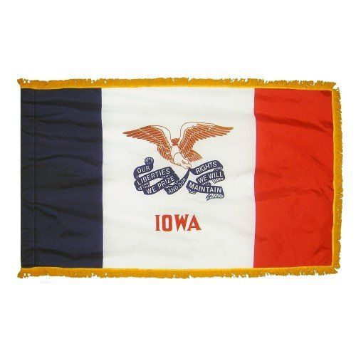 Indoor and Parade Iowa State Flags
