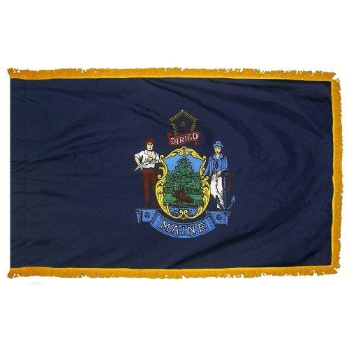Indoor and Parade Maine State Flags
