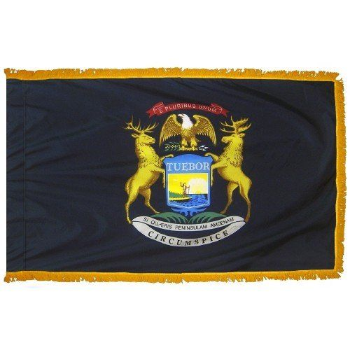 Indoor and Parade Michigan State Flags