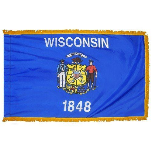 Indoor and Parade Wisconsin State Flags