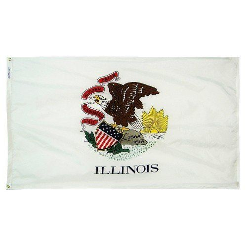 Premium Nylon Outdoor Illinois State Flags