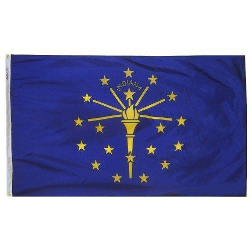 Premium Nylon Outdoor Indiana State Flags