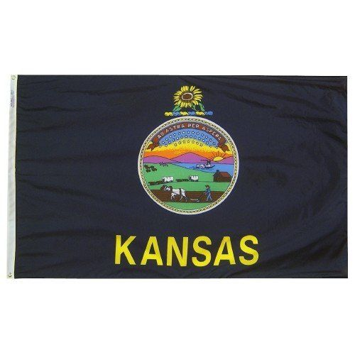 Premium Nylon Outdoor Kansas State Flags