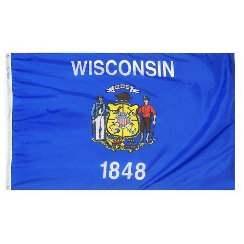 Premium Nylon Outdoor Wisconsin State Flags