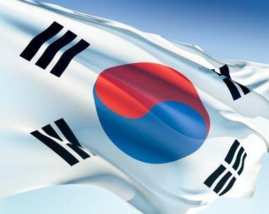 South Korea Flags