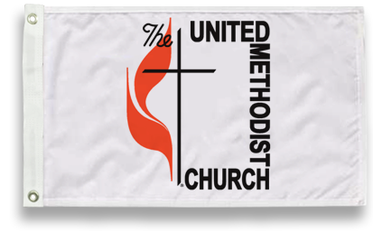 Outdoor Methodist Flags