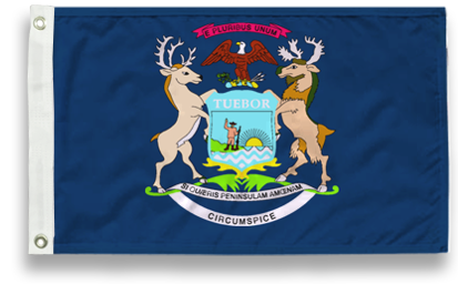State-Tex Commercial Grade Michigan State Flags