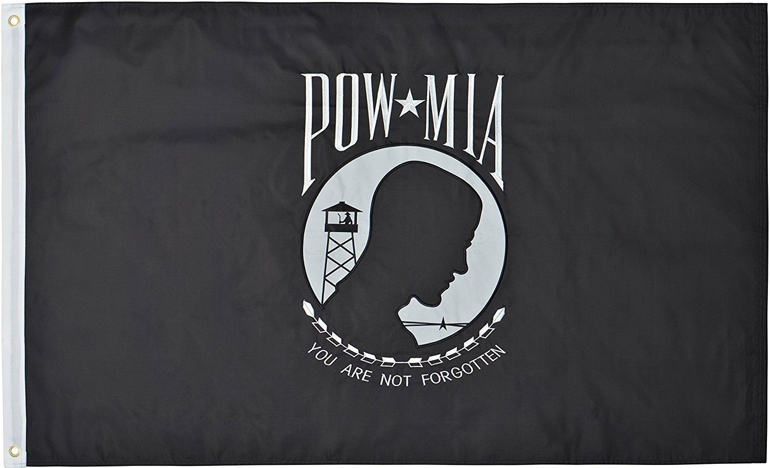 Heavy Nylon Single Reverse POW-MIA Flags