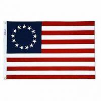 Heavyweight Nylon Betsy Ross Flag - 3 ft X 5 ft