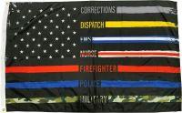 Nylon First Responders Honor Flag - 3 ft X 5 ft