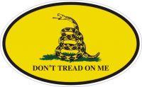 Gadsden Oval Bumper Sticker