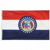Nylon Missouri State Flag - 3 ft X 5 ft