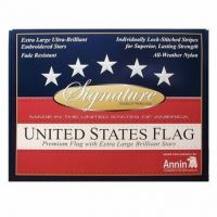 Gift Boxed Signature Series Embroidered US Flag - 4 ft X 6 ft