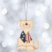 Americana Cat Ornament