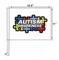 Autism Awareness - Car Flag