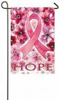 Breast Cancer Hope Garden Flag