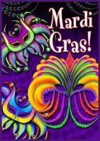 Happy Mardi Gras Garden Flag