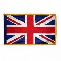 Indoor/Parade Nylon United Kingdom Fringed Flags