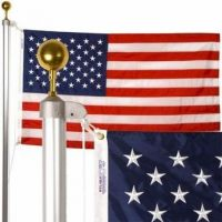 Patriot Residential Aluminum Flagpole Set - 20 ft