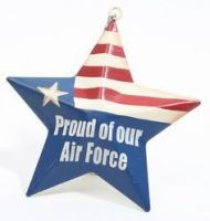 Proud Of Our Air Force Metal Star Ornament