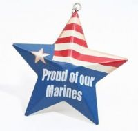 Proud Of Our Marines Metal Star Ornament