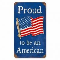 Proud To Be An American Vintage Metal Sign