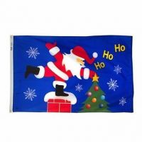 Roof Top Santa Flag